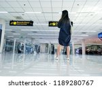 the tourist is standing in the... | Shutterstock . vector #1189280767
