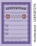 violet vintage invitation....   Shutterstock .eps vector #1189287274
