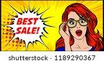 vector pop art illustration of... | Shutterstock .eps vector #1189290367