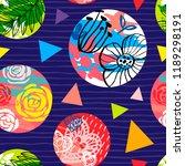 seamless colorful ethnic brush...   Shutterstock .eps vector #1189298191