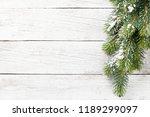 christmas snow fir tree on... | Shutterstock . vector #1189299097