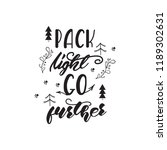 lettering design with a travel... | Shutterstock .eps vector #1189302631