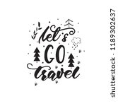lettering design with a travel... | Shutterstock .eps vector #1189302637