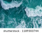 aerial view of a breaking wave... | Shutterstock . vector #1189303744