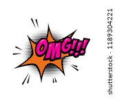 omg    comic style phrase with... | Shutterstock .eps vector #1189304221