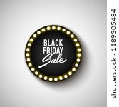 black friday advertising banner ... | Shutterstock .eps vector #1189305484