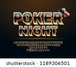 vector casino icon poker night. ... | Shutterstock .eps vector #1189306501
