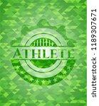 athlete realistic green emblem. ...   Shutterstock .eps vector #1189307671