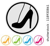 woman shoes icon. high heel... | Shutterstock .eps vector #118930861