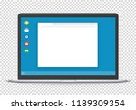 modern computer with operating... | Shutterstock .eps vector #1189309354