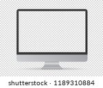 modern computer monitor vector...