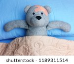 injured teddy bear with... | Shutterstock . vector #1189311514