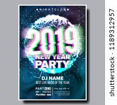 2019 party flyer poster vector. ... | Shutterstock .eps vector #1189312957