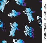 seamless  space pattern  .... | Shutterstock .eps vector #1189313857
