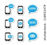 mobile sms text message mail... | Shutterstock .eps vector #118931479