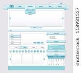 blue ice ribbon  user interface ... | Shutterstock .eps vector #118931527