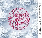 red ribbon of happy new year... | Shutterstock .eps vector #1189323241