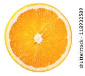 Slice Of Fresh Orange Isolated...