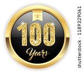 gold 100 years  anniversary... | Shutterstock .eps vector #1189329061