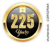 gold 225 years  anniversary... | Shutterstock .eps vector #1189329064