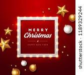 christmas background. retro... | Shutterstock .eps vector #1189329244