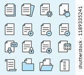 document flat line icons. thin... | Shutterstock .eps vector #1189335241