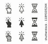 cursor icons. mouse  hand ... | Shutterstock .eps vector #1189335244