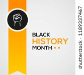 black history month greeting... | Shutterstock .eps vector #1189337467