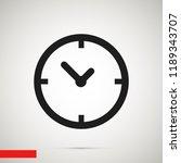 time vector icon  stock vector... | Shutterstock .eps vector #1189343707