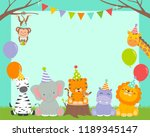 cute wildlife cartoon animals... | Shutterstock .eps vector #1189345147