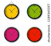 a set of watches with colored...
