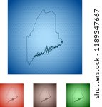 map of maine | Shutterstock .eps vector #1189347667