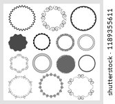collection of round decorative... | Shutterstock .eps vector #1189355611