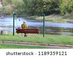 woman on the bench | Shutterstock . vector #1189359121
