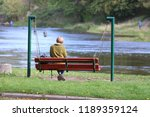 woman on the bench | Shutterstock . vector #1189359124