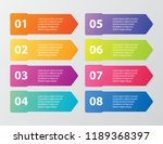 business data visualization ... | Shutterstock .eps vector #1189368397