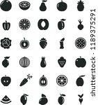 solid black flat icon set beet... | Shutterstock .eps vector #1189375291