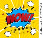 comic lettering wow  in the... | Shutterstock .eps vector #1189390654
