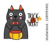 cute cartoon halloween vector. | Shutterstock .eps vector #1189391401