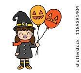 cute cartoon halloween vector. | Shutterstock .eps vector #1189391404