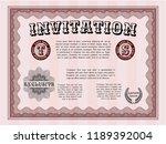 red invitation template.... | Shutterstock .eps vector #1189392004