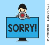word writing text sorry.... | Shutterstock . vector #1189397137