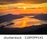panoramic view on kotor bay ... | Shutterstock . vector #1189399141