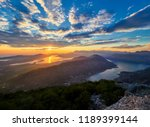 panoramic view on kotor bay ... | Shutterstock . vector #1189399144