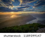 panoramic view on kotor bay ... | Shutterstock . vector #1189399147