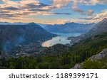 panoramic view on kotor bay ... | Shutterstock . vector #1189399171