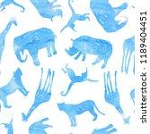 tropical seamless pattern....   Shutterstock . vector #1189404451
