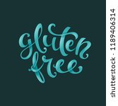 poster with handdrawn gluten... | Shutterstock . vector #1189406314