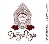indian holy festival durga puja ... | Shutterstock .eps vector #1189406794