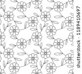 flower seamless pattern with... | Shutterstock .eps vector #1189410697